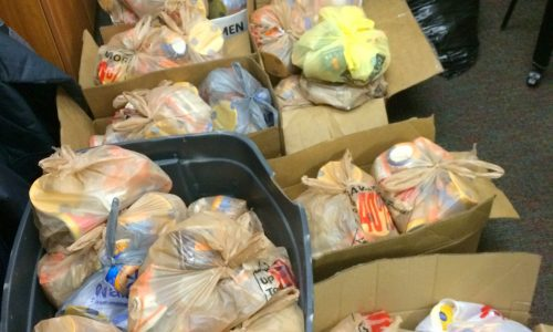 Bags of food for Eblen Intermediate
